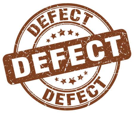 defect: defect brown grunge round vintage rubber stamp Illustration