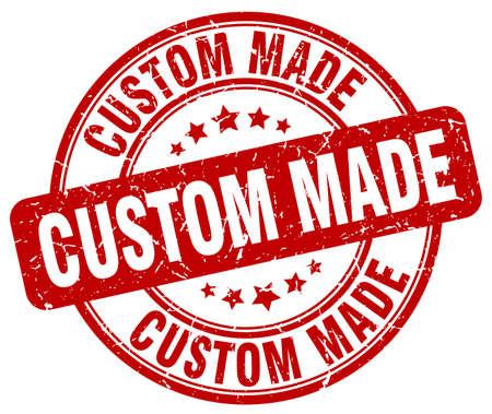 custom made: custom made red grunge round vintage rubber stamp