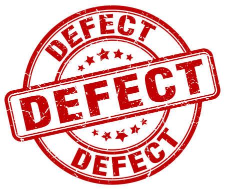 defect: defect red grunge round vintage rubber stamp