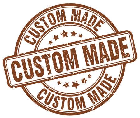 custom made: custom made brown grunge round vintage rubber stamp Illustration