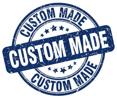 custom made: custom made blue grunge round vintage rubber stamp