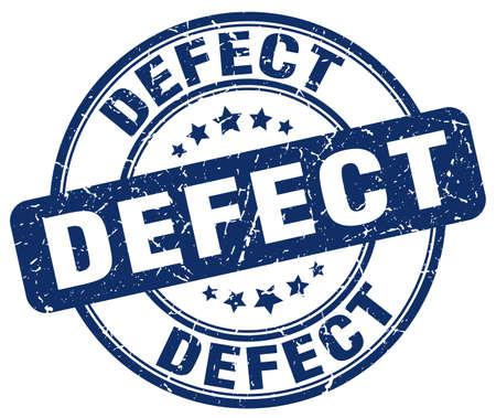 defect: defect blue grunge round vintage rubber stamp