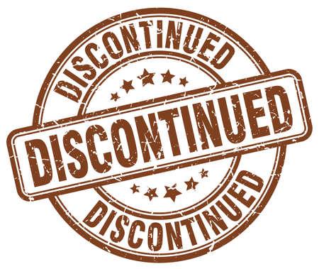 discontinued: discontinued brown grunge round vintage rubber stamp