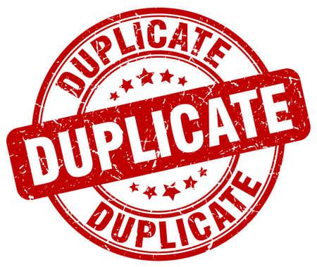 duplicate: duplicate red grunge round vintage rubber stamp
