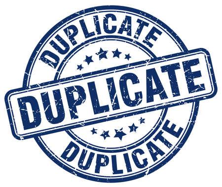 duplicate: duplicate blue grunge round vintage rubber stamp