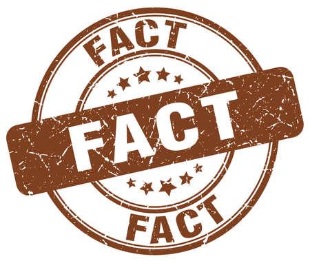 fact: fact brown grunge round vintage rubber stamp
