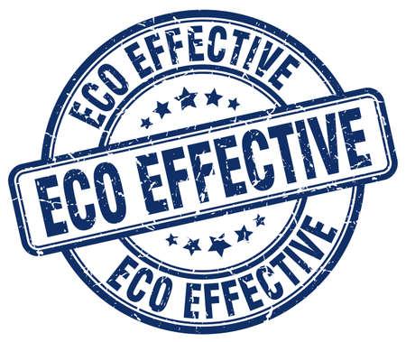 effective: eco effective blue grunge round vintage rubber stamp