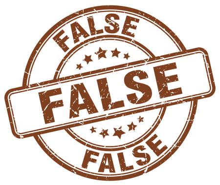 false: false brown grunge round vintage rubber stamp