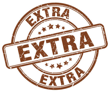 extra: extra brown grunge round vintage rubber stamp Illustration