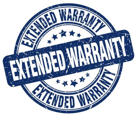 extended: extended warranty blue grunge round vintage rubber stamp Illustration