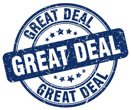 great deal: great deal blue grunge round vintage rubber stamp Illustration