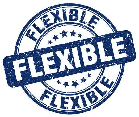 flexible: flexible blue grunge round vintage rubber stamp Illustration