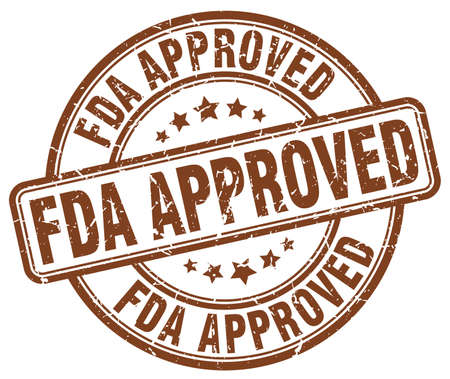 fda: fda approved brown grunge round vintage rubber stamp