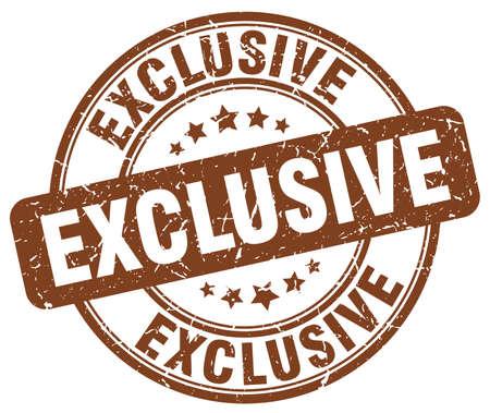 exclusive: exclusive brown grunge round vintage rubber stamp