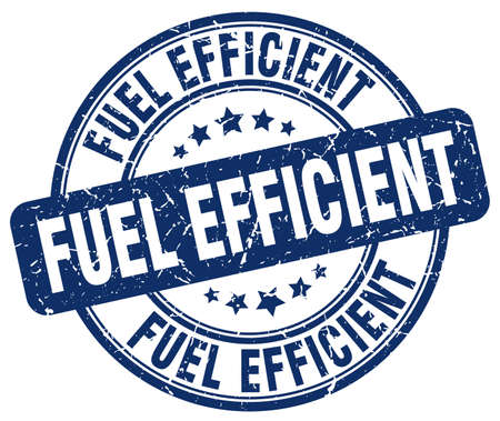 efficient: fuel efficient blue grunge round vintage rubber stamp