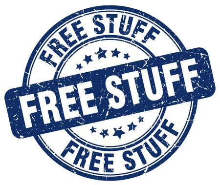 stuffs: free stuff blue grunge round vintage rubber stamp Illustration