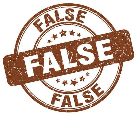 falso: falsa marrón grunge ronda sello de goma de la vendimia