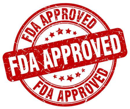 fda: fda approved red grunge round vintage rubber stamp