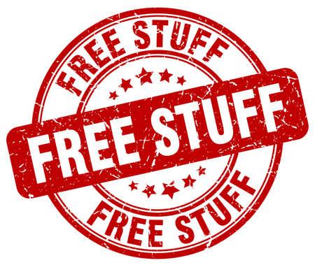 stuffs: free stuff red grunge round vintage rubber stamp Illustration