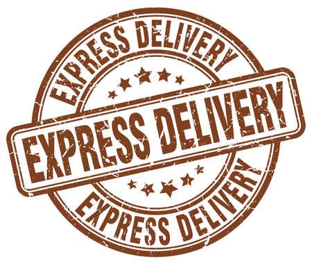 express: express delivery brown grunge round vintage rubber stamp Illustration