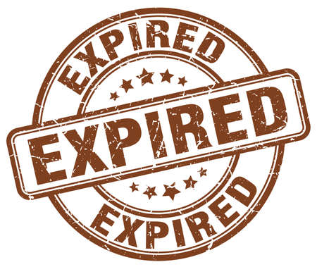expired: expired brown grunge round vintage rubber stamp