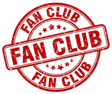 red fan: fan club red grunge round vintage rubber stamp Illustration