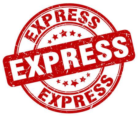 express: express red grunge round vintage rubber stamp Illustration