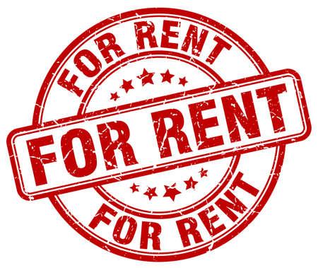 for rent: for rent red grunge round vintage rubber stamp Illustration