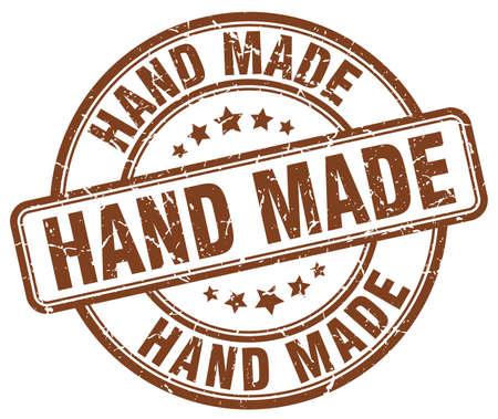 handgemaakte bruine grunge ronde vintage rubberstempel