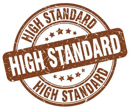 standard: high standard brown grunge round vintage rubber stamp
