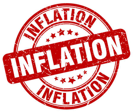inflation: inflation red grunge round vintage rubber stamp