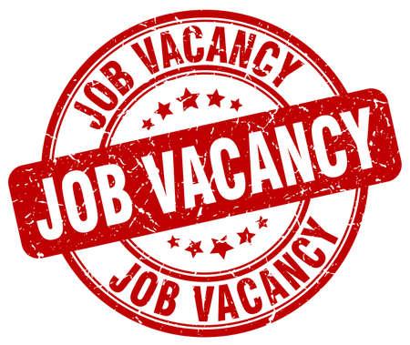 job vacancy: job vacancy red grunge round vintage rubber stamp