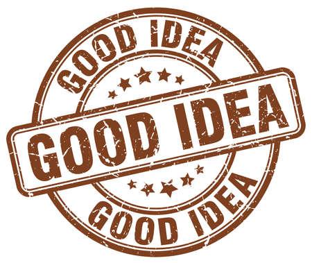 good idea: good idea brown grunge round vintage rubber stamp