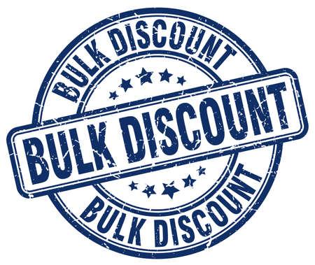 bulk: bulk discount blue grunge round vintage rubber stamp