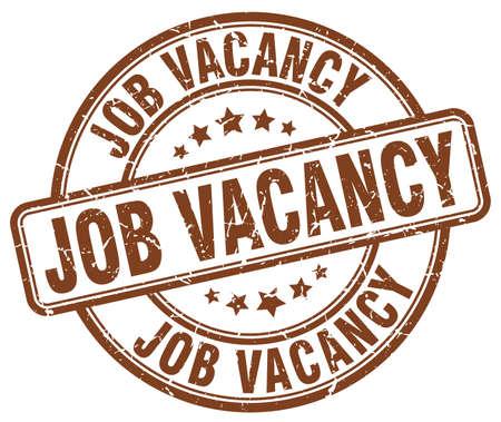 job vacancy: job vacancy brown grunge round vintage rubber stamp