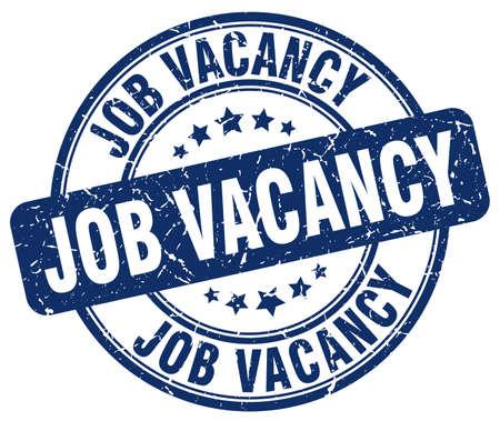 vacancy: job vacancy blue grunge round vintage rubber stamp Illustration