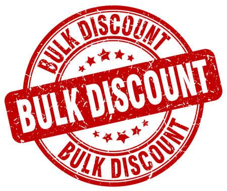 bulk: bulk discount red grunge round vintage rubber stamp