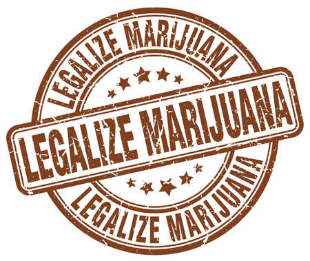 legalize: legalize marijuana brown grunge round vintage rubber stamp