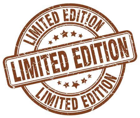 edition: limited edition brown grunge round vintage rubber stamp