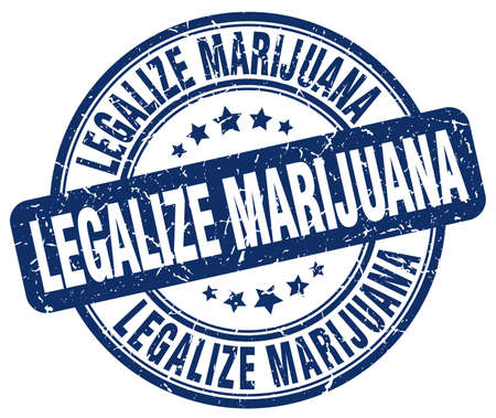 legalize: legalize marijuana blue grunge round vintage rubber stamp