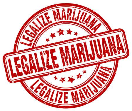 legalize: legalize marijuana red grunge round vintage rubber stamp
