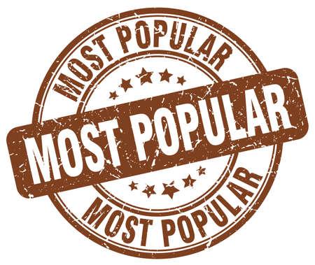 most popular: most popular brown grunge round vintage rubber stamp