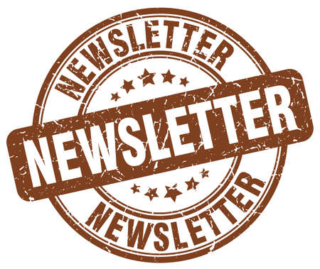 newsletter brown grunge round vintage rubber stamp