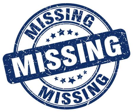 missing: missing blue grunge round vintage rubber stamp