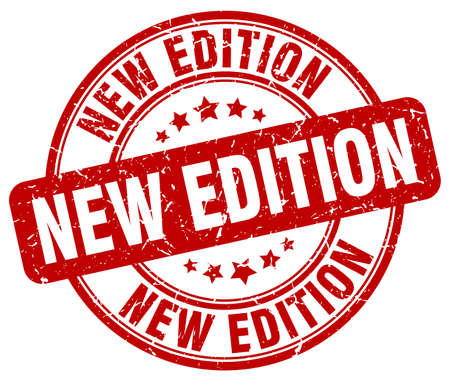 edition: new edition red grunge round vintage rubber stamp Illustration