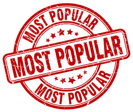most popular: most popular red grunge round vintage rubber stamp
