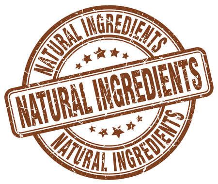 ingredients: natural ingredients brown grunge round vintage rubber stamp
