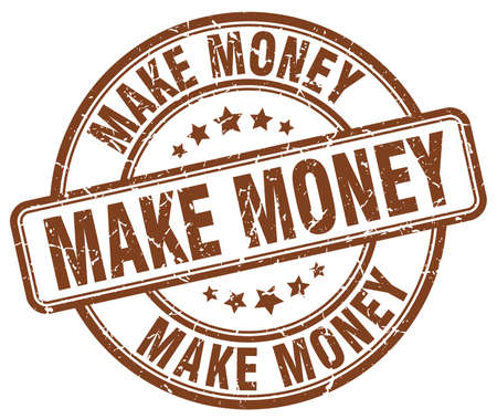 make money: make money brown grunge round vintage rubber stamp Illustration