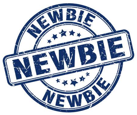 newbie: newbie blue grunge round vintage rubber stamp