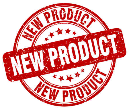 nieuw product rood grunge ronde vintage stempel